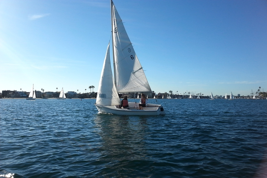 After only one semester, some students have the skills to enter local regattas.