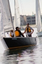 Our club commodore Kyle Henneberque on a recent group sail Saturday.